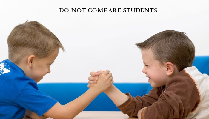 Do Not Compare Students
